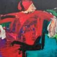 Pape rouge, Serge Labégorre 2002, 195x130 cm 120F at#01