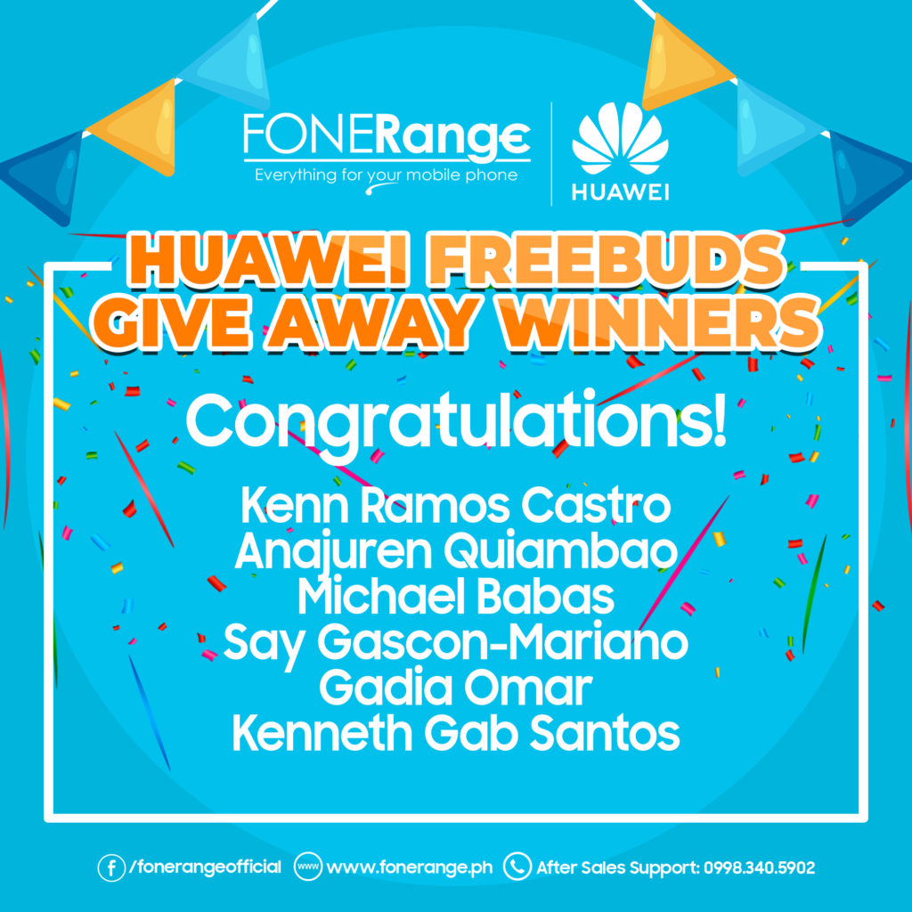 Huawei Freebuds Winners
