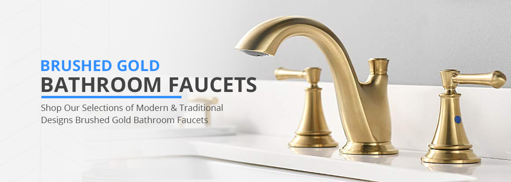 brushed gold bathroom faucets