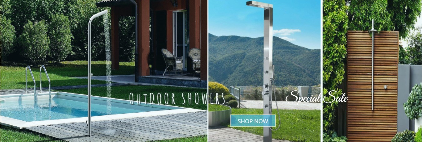 outdoor showers on sale at fontana showers