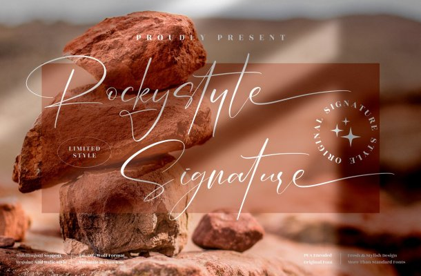 Rockystyle Signature Font