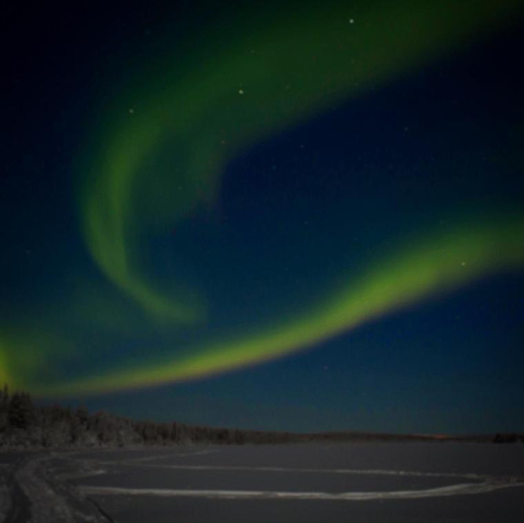 Aurora boreale in Lapponia