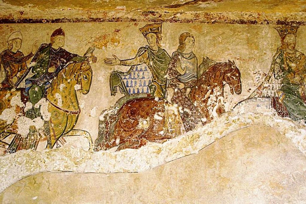 Chasse Royale Fresque De La Chapelle Sainte Radegonde