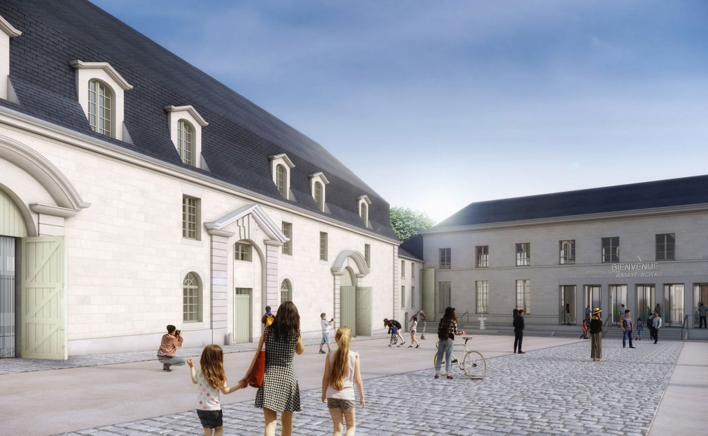 Projection Musée d'Art moderne de Fontevraud