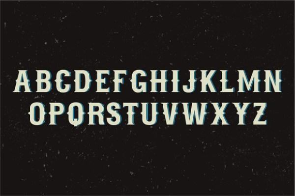 Marine Whiskey label font 1