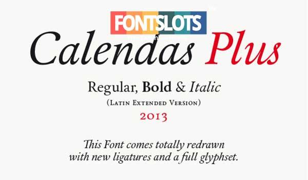 Calendas Plus Font