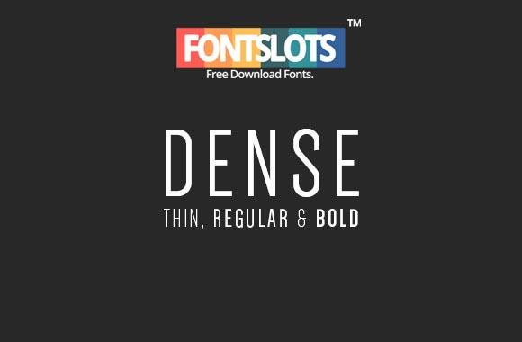 Dense Font