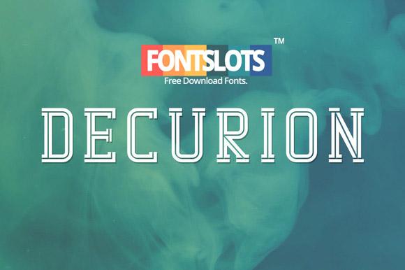 Decurion Typeface Font