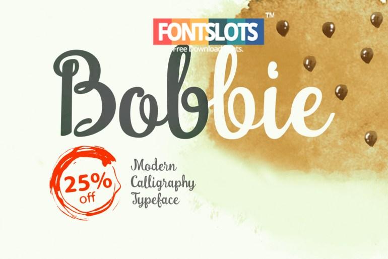 Bobbie Regular Font