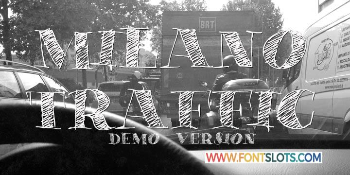 Milano Traffic Font