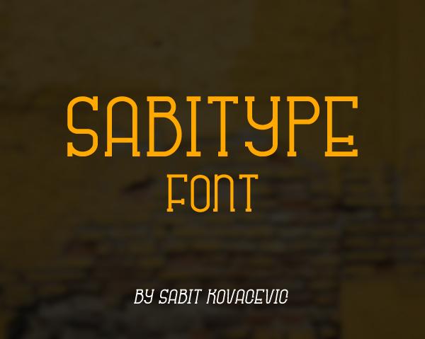 Sabitype Font