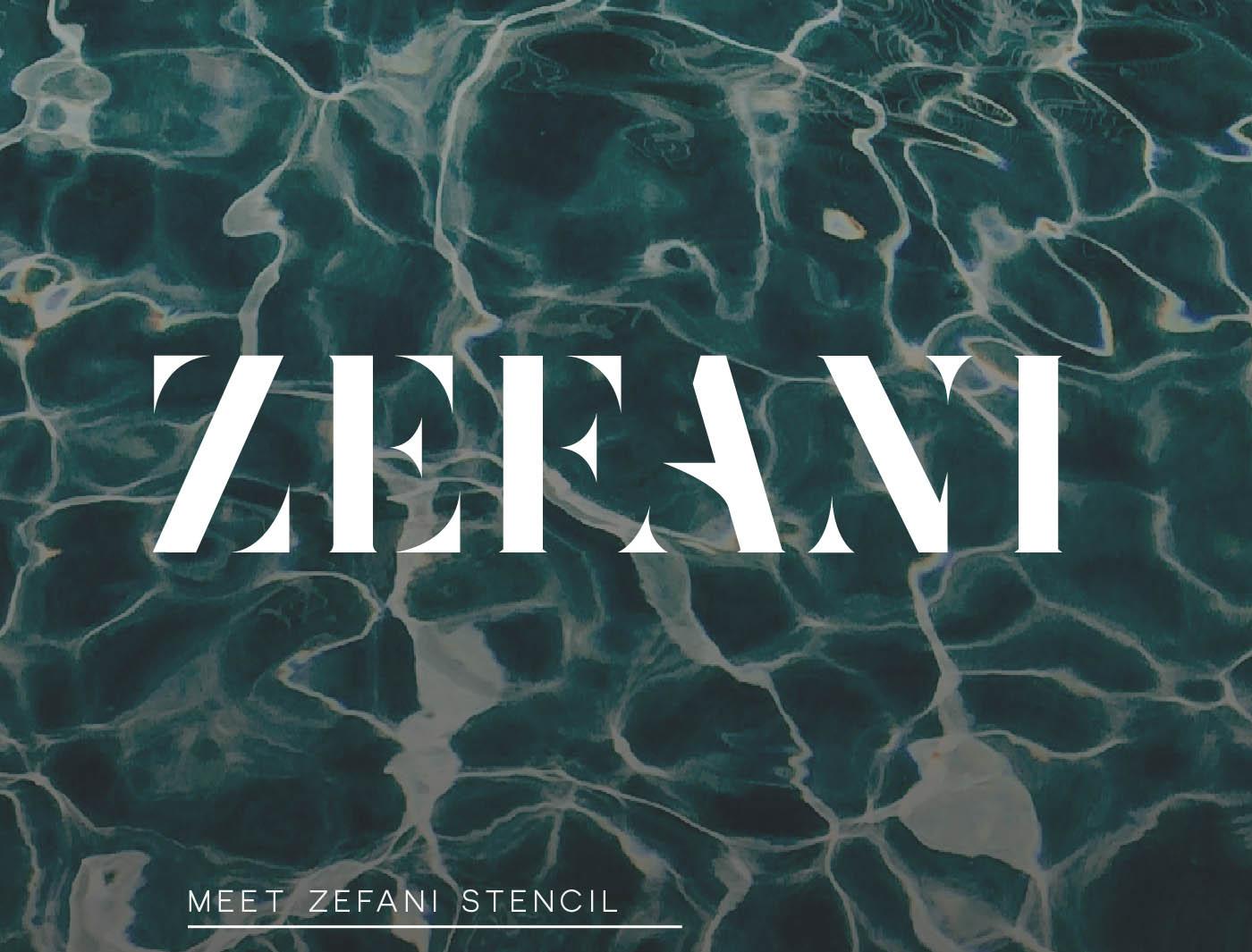 Zefani Stencil Font | Font Slots