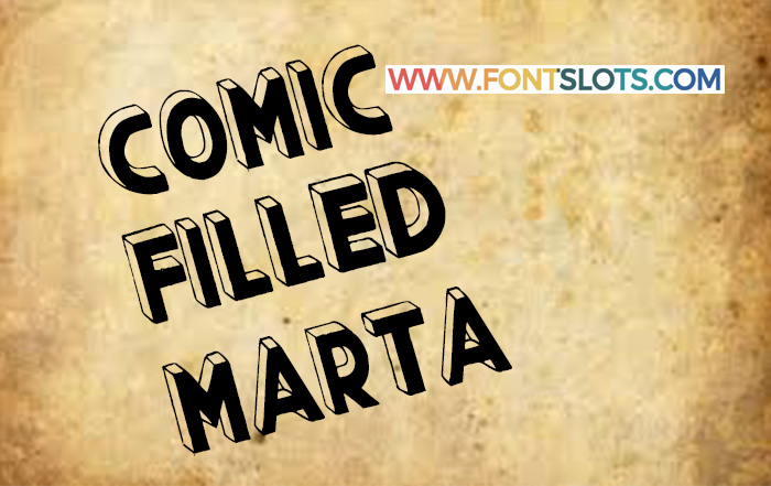 Comic Filled Marta Font