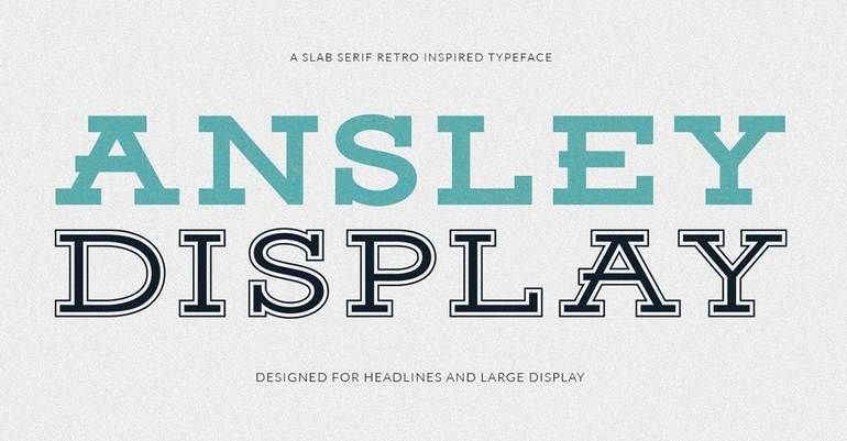 Ansley Display Font