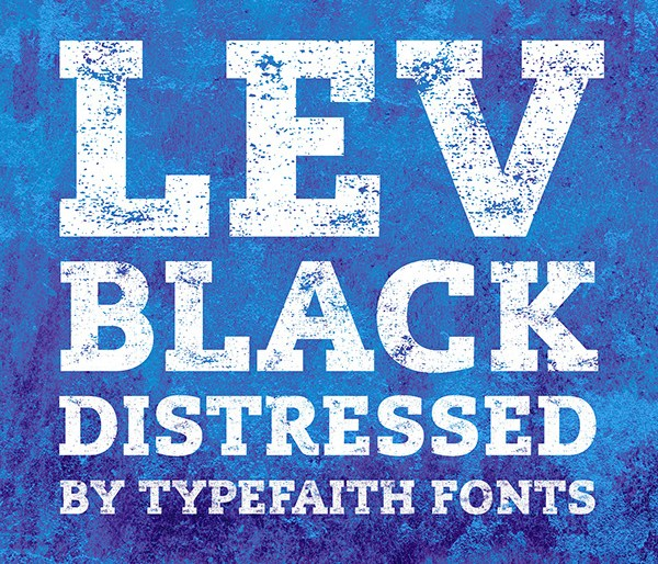 Lev Black Distressed Font