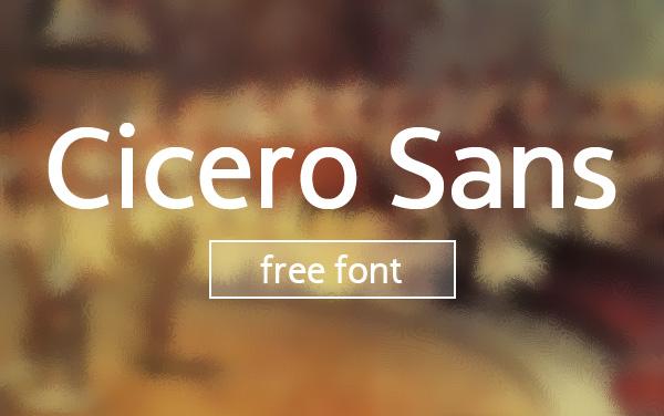 Cicero Sans Font