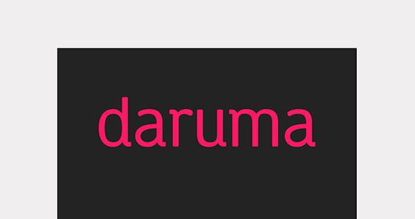 Daruma Font