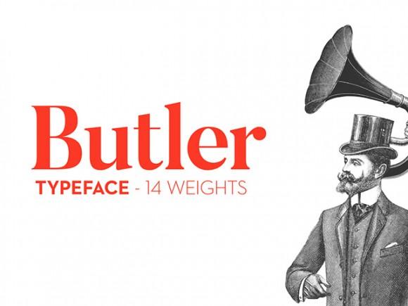 Butler Typeface Font
