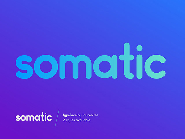 Somatic Rounded Font