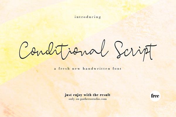 Conditional Script Font