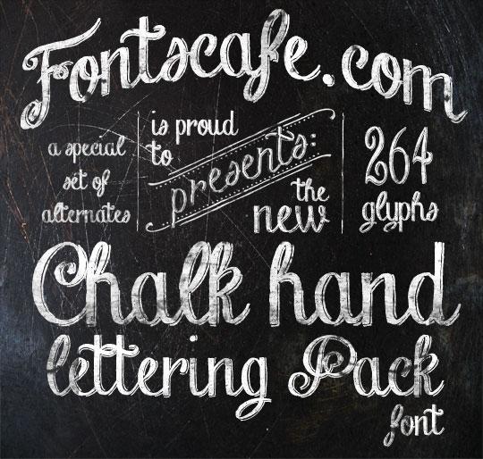 Download Chalk-hand-lettering-shaded_dem Font | Designed by FontsCafe