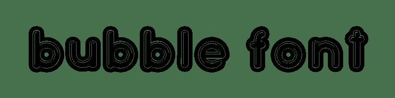 英文泡沫字體生成器,無版權可商業用途的泡沫字。
