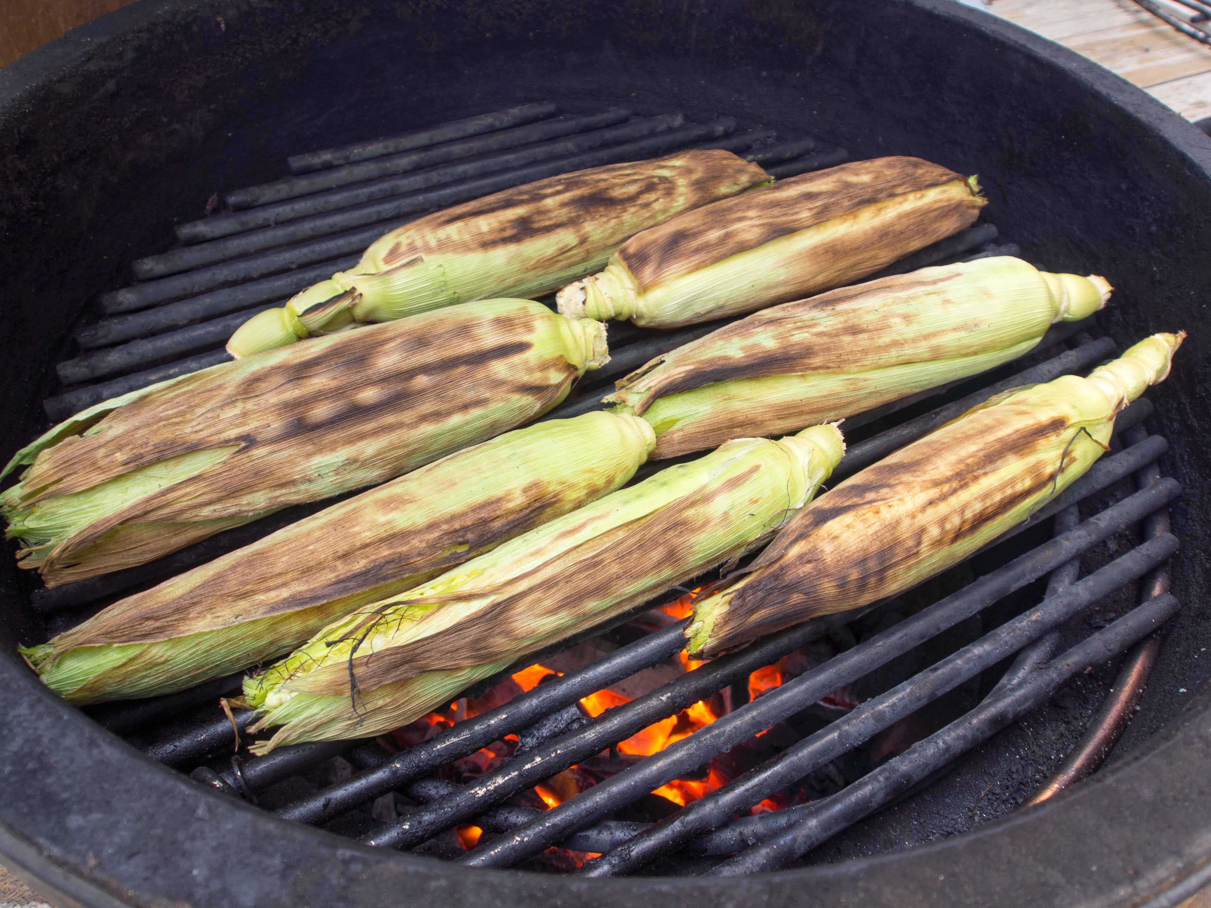 Grilled Sweet Corn in the Husk - Food & Fire