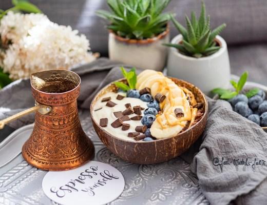 Serviervorschlag für Dein Peanut Butter Porridge ;)