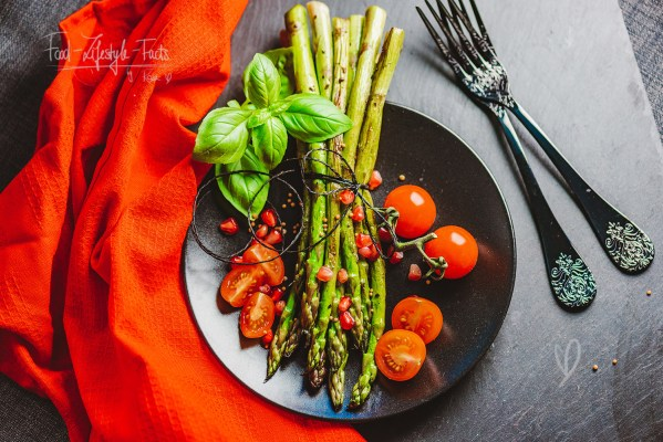 Roasted Green Asparagus Recipe – easy, fast, vegan, low carb by Food-Lifestyle-Facts