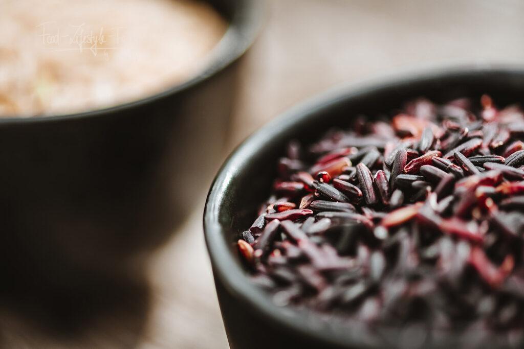 Schwarzer Reis ist tatsächlich nicht ganz so schwarz wie man denkt :)