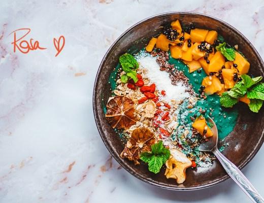 Vegane Spirulina-Protein-Bowl Rezept