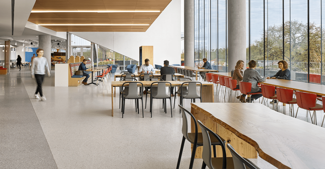 The cafeteria inside Oracle's new Austin campus helps attract top tale | Food Management