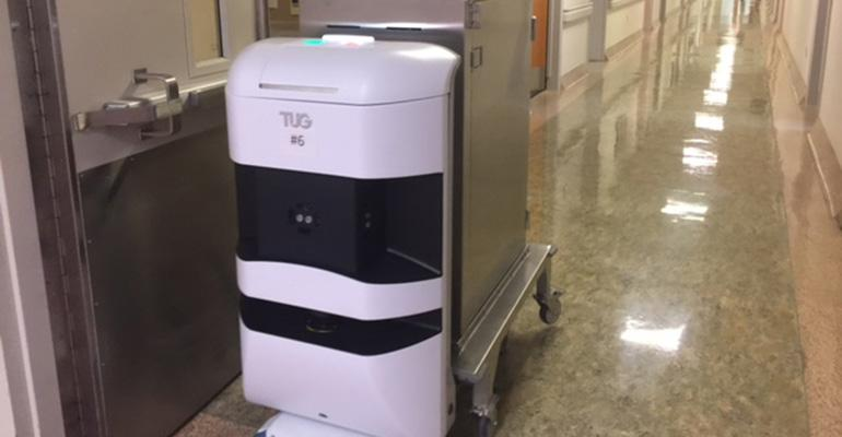 Robots Ease Tray Delivery To Far Flung Hospital Wings
