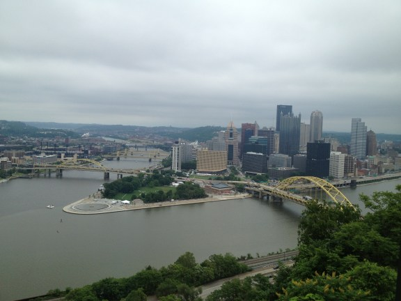 View from the top of the Duquesne Incline