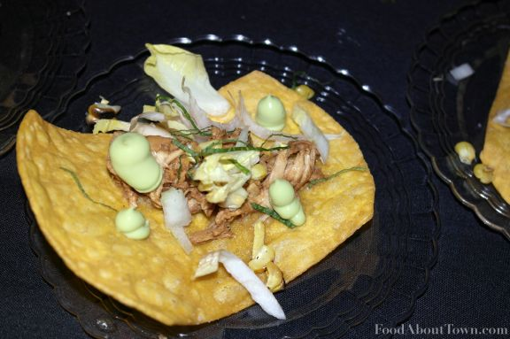 Corn Tostada with Chicken