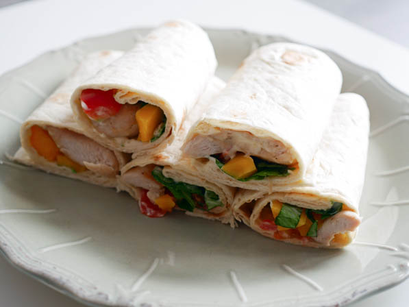 Zomerse wraps met kip en mango   Foodaholic.nl