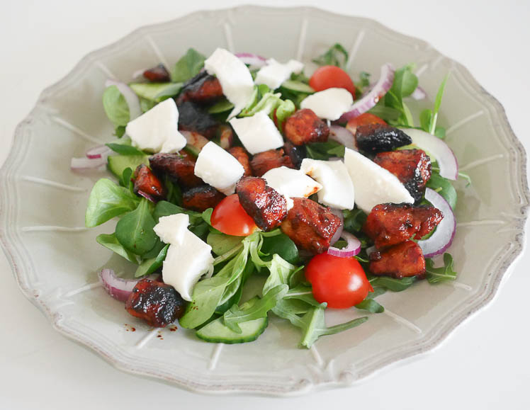 Salade met kip ketjap