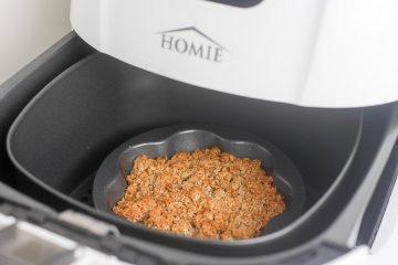 Appelcrumble uit mijn Homie Airfryer | Foodaholic.nl