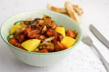 Salade met pittige kip | Foodaholic.nl