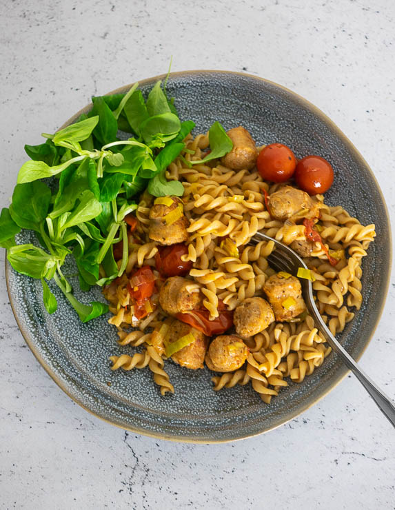Pasta met verse worst | Foodaholic.nl
