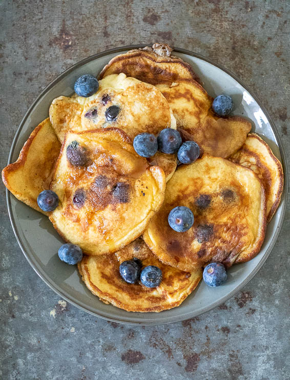 Blueberry pancakes | Foodaholic.nl