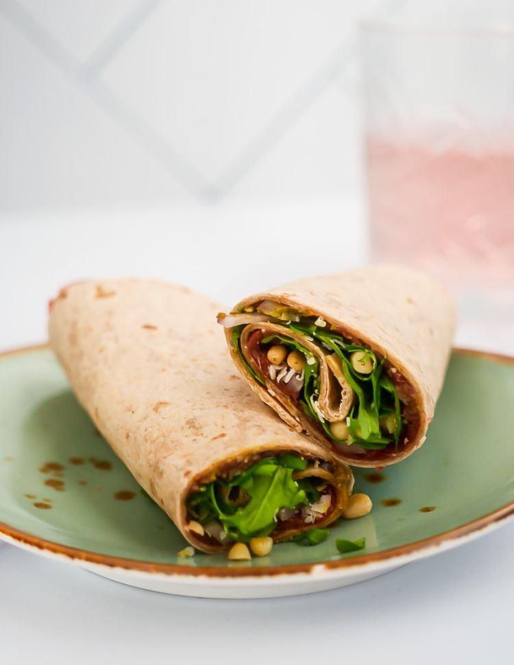 Wrap met carpaccio | Foodaholic.nl