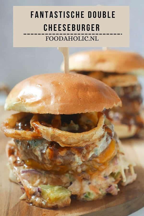 Fantastische double cheeseburger - Pinterst | Foodaholic.nl