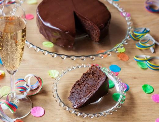 Chocolade-Amandeltaart