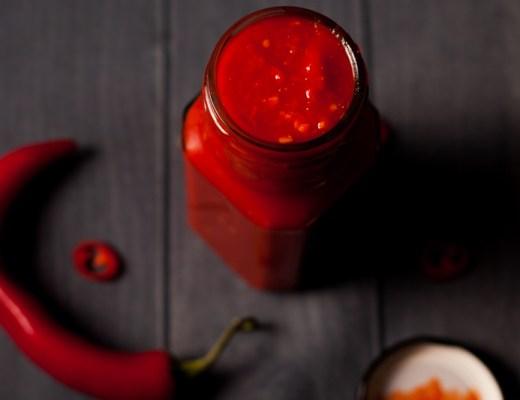 Hete rode pepersaus (Frank's RedHot sauce)