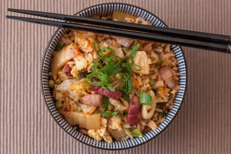 bacon kimchi gebakken rijst