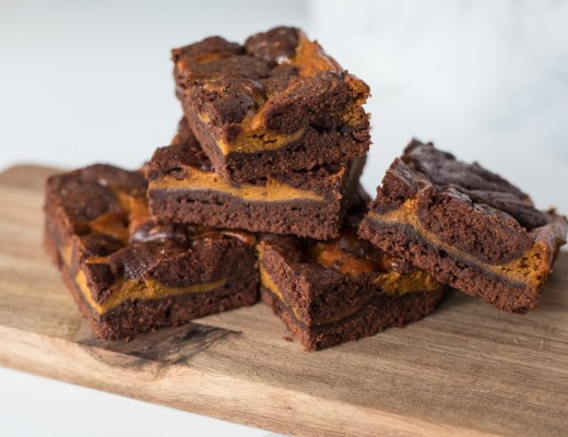 Pompoen cheesecake brownies