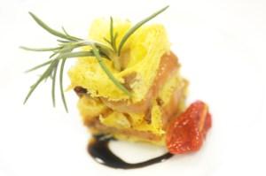 Millefoglie di panettone e foie gras