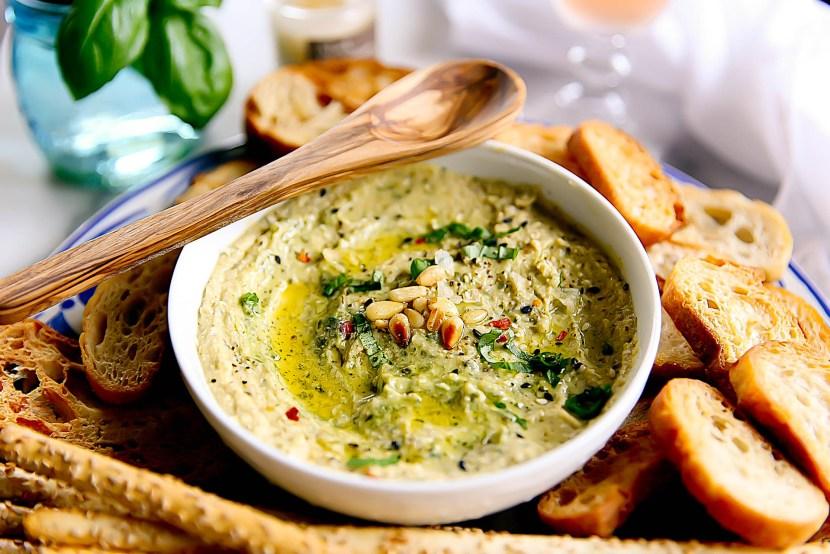 Hummus with Pesto