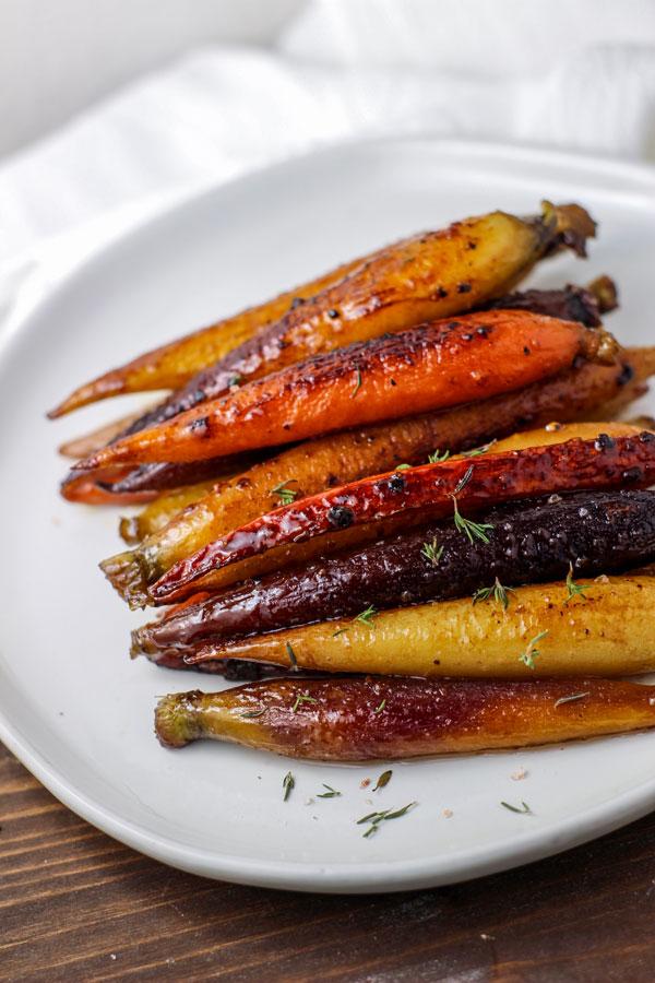sous vide honey butter glazed carrots